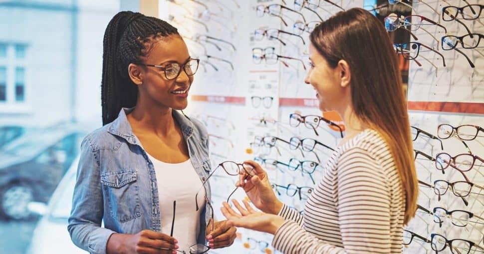 Kundenumgang Augenoptiker