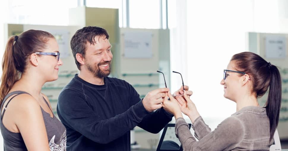 Brillenreperatur von Kunde